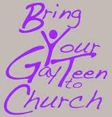 Gay teen to church